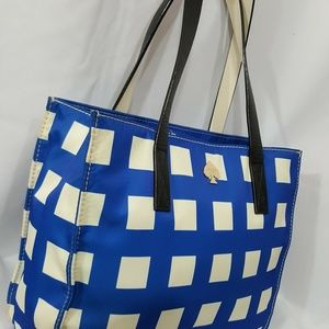 kate spade Bags - Kate Spade blue and white nylon check bag